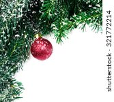 christmas tree branches with... | Shutterstock . vector #321772214