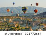 colorful hot air balloons... | Shutterstock . vector #321772664
