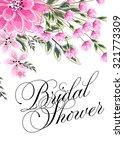 bridal shower invitation card | Shutterstock .eps vector #321773309