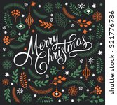 merry christmas lettering on a... | Shutterstock .eps vector #321776786