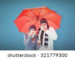 mature couple blowing their... | Shutterstock . vector #321779300