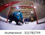 ice hockey goalkeeper  player... | Shutterstock . vector #321782759