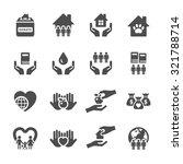 charity and donation icon set 2 ... | Shutterstock .eps vector #321788714