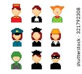 profession pixels icons set.... | Shutterstock .eps vector #321792308