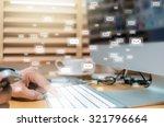 many e mail over the finger... | Shutterstock . vector #321796664