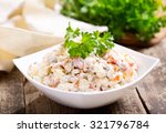 bowl of traditional russian... | Shutterstock . vector #321796784