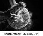 Black And White Photo Of Hand...