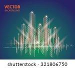 city landscape. beautiful... | Shutterstock .eps vector #321806750