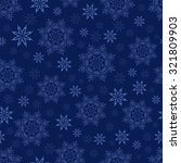 winter seamless pattern with... | Shutterstock .eps vector #321809903