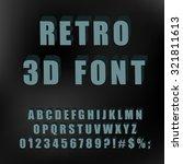 vintage alphabet 3d. vector.   Shutterstock .eps vector #321811613