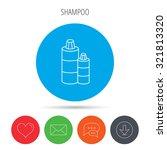 shampoo bottles icon. liquid... | Shutterstock .eps vector #321813320