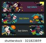 happy halloween hand drawn... | Shutterstock .eps vector #321823859
