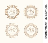 set of elegant floral monogram... | Shutterstock .eps vector #321824006