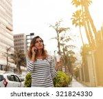 waist up portrait of a young... | Shutterstock . vector #321824330