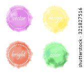 colorful watercolor background... | Shutterstock .eps vector #321827516