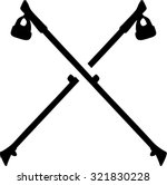 nordic walking sticks crossed   Shutterstock .eps vector #321830228