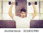 portrait of muscular man... | Shutterstock . vector #321831980