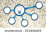 vector circular text boxes for... | Shutterstock .eps vector #321836603