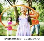 Children Playing Hoop Cheerful...