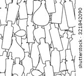 seamless pattern with doodles... | Shutterstock . vector #321842090