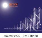 city landscape. beautiful... | Shutterstock .eps vector #321848420