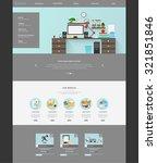 modern flat website template... | Shutterstock .eps vector #321851846