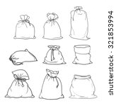 canvas sack vector. canvas bag. ... | Shutterstock .eps vector #321853994