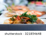 fired seafoods on dish  luxuary ... | Shutterstock . vector #321854648