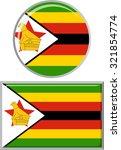 zimbabwean round and square... | Shutterstock . vector #321854774