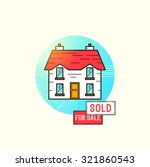 moving home icon vector.  | Shutterstock .eps vector #321860543