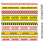 Yellow Security Warning Tapes...