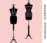 mannequin silhouette. fashion ... | Shutterstock .eps vector #321869360