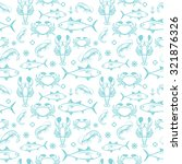 seafood seamless pattern with... | Shutterstock .eps vector #321876326