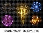 Festive Fireworks Set Isolated...