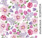 floral seamless pattern. flower ... | Shutterstock .eps vector #321894554