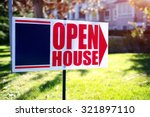 Small photo of open house sign