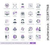 human resources and management  ... | Shutterstock .eps vector #321897968