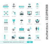 transport and logistics icons... | Shutterstock .eps vector #321898088