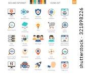 seo internet and development... | Shutterstock .eps vector #321898226