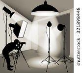 man using professional camera... | Shutterstock .eps vector #321898448