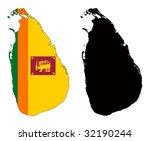 vector map and flag of sri...   Shutterstock .eps vector #32190244