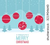 a set of christmas baubles... | Shutterstock .eps vector #321904640