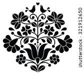kalocsai black embroidery  ... | Shutterstock .eps vector #321912650