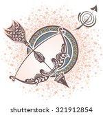 sagittarius. zodiac sign | Shutterstock .eps vector #321912854