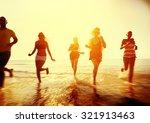 friendship freedom beach summer ... | Shutterstock . vector #321913463