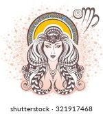 virgo. zodiac sign | Shutterstock .eps vector #321917468