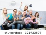 happy smiling professionals and ... | Shutterstock . vector #321923579