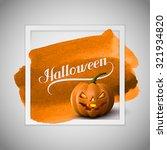 halloween pumpkin jack lantern... | Shutterstock . vector #321934820