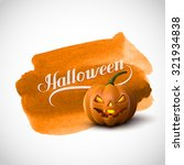 halloween pumpkin jack lantern... | Shutterstock . vector #321934838