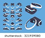 set of the isometric virtual... | Shutterstock .eps vector #321939080